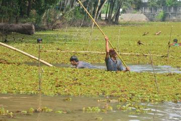 Supporting Green Campus, IPB Community Cleans Fishing Situ